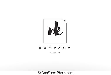 nk n k hand writing letter company logo icon design - nk n k...