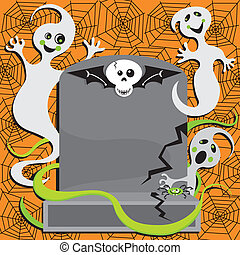 Ghost Halloween Party Invitation - Fun Halloween Ghosts...