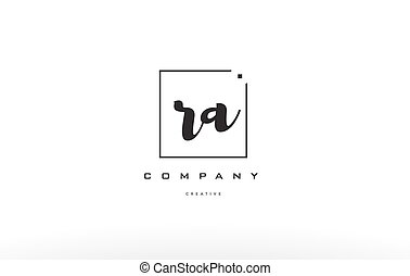 ra r q hand writing letter company logo icon design - ra r q...