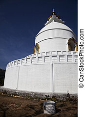 World Peace Stupa, Pokhara, Nepal - Image of the World Peace...