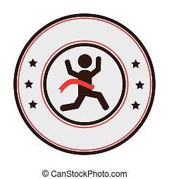 runners athlete silhouette icon