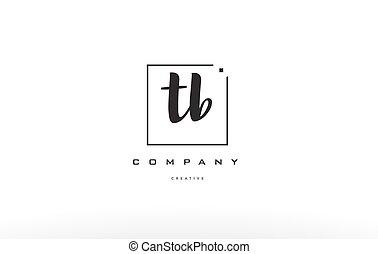 tb t b hand writing letter company logo icon design - tb t b...