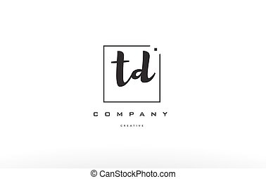 td t d hand writing letter company logo icon design - td t d...