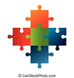 puzzle game pieces isolated icon vector illustration design