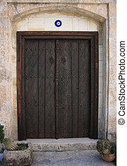 Dark brown door cyprus style