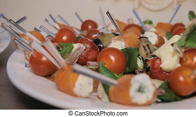 Salad of Vegetables and Fruits - Tempting selection of fresh...