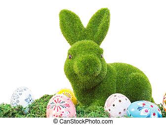Eier, gras, Ostern, kaninchen