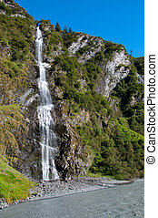 Bridal Veil Falls Alaska - View of Bridal Veil Falls inside...