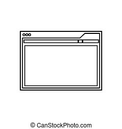Website internet page icon vector illustration graphic...