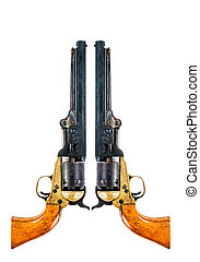 Cowboy Pistols. - Old west cowboy pistols with room for your...
