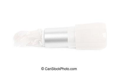 Vaseline lip balm stick pomade isolated - Crushed vaseline...