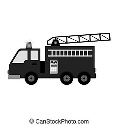 fire fighter truck icon vector illustration design