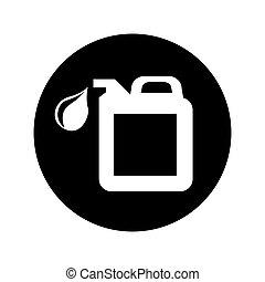 oil gallon isolated icon vector illustration design