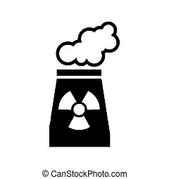 chimney nuclear plant isolated icon vector illustration...