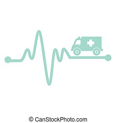 ambulance emergency vehicle icon vector illustration design