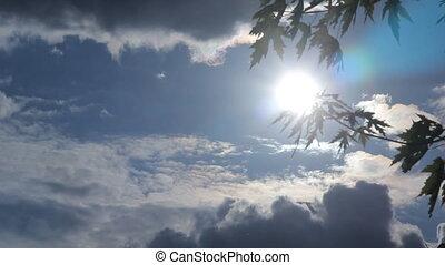 Sunset clouds sun HD