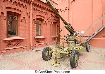 Soviet anti-aircraft gun of the Second World War. - Soviet...