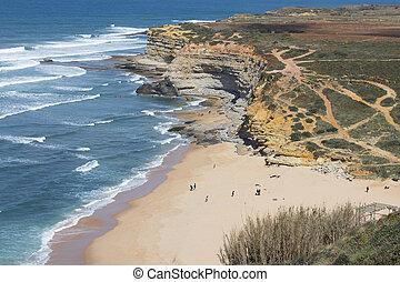 sand beach aerial view