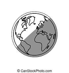 Isolate globe world