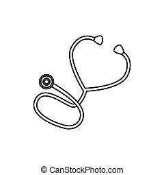 Medical stethoscope symbol