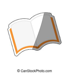 Isolated book open