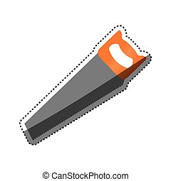 Hacksaw construction tool icon vector illustration graphic...