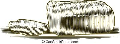 Woodcut Sliced Bread Loaf