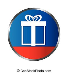 giftbox party celebration icon vector illustration design