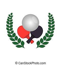 ping pong sport emblem vector illustration design