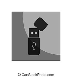 usb memory isolated icon vector illustration design