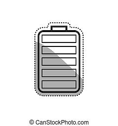 Electric battery rechargeable icon vector illustration...