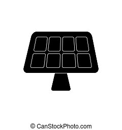 Solar panel energy icon vector illustration graphic design