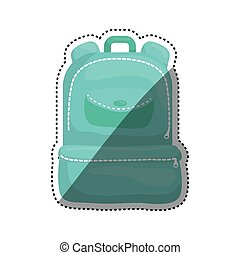 School backpack isolated icon vector illustration graphic...