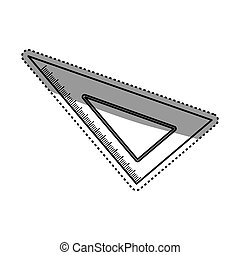 Set square ruler icon vector illustration graphic design