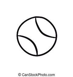Tennis ball sketch icon. - Tennis ball vector sketch icon...