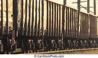 Cargo Train Pulls - Cargo train with wagons, a Train pulls...