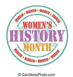 Women's history month sign or stamp - Women's history month...