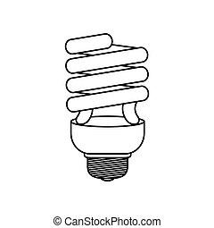 Spiral bulb light