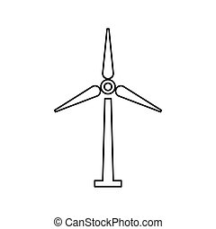 Wind turbine energy icon vector illustration graphic design