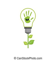 Green energy ecology icon vector illustration graphic design
