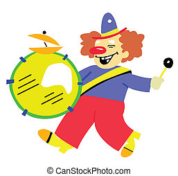 illustration of the clown on white background