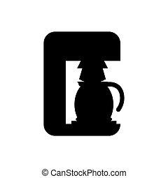 Coffee machine maker icon vector illustration graphic design