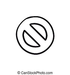 Not allowed sign sketch icon. - Not allowed sign vector...