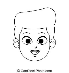 face of young handsome man icon image vector illustration...