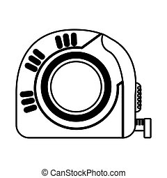 tape measure tool icon vector illustration design