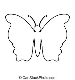 butterfly silhouette isolated icon vector illustration...