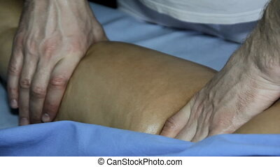 Anticellulite Massage Prevention - Beautiful young woman...