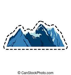 mountain ridge icon image