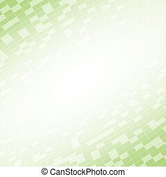 Green abstract background in vision perspective vector illustration