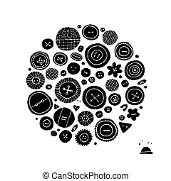 Buttons collection, sketch for your design